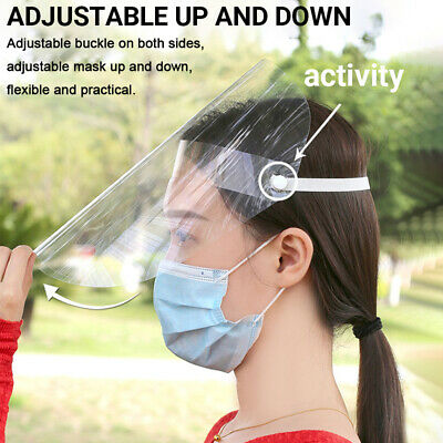 Full Face Shield Transparent Hat Splash Dust-proof Anti Saliva Protection Cover