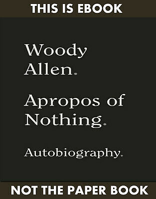Apropos of Nothing (E-BððK) by Woody Allen (ΚINĐLE,PƊF,EPUß)
