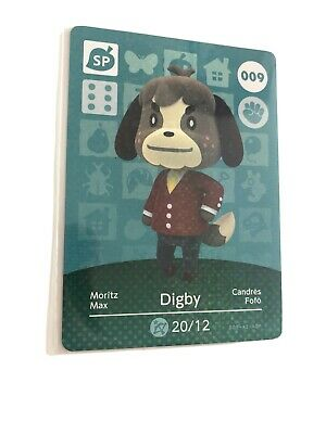 Animal Crossing Amiibo card Series 1 009 Digby Special Never scanned Mint 9 EU