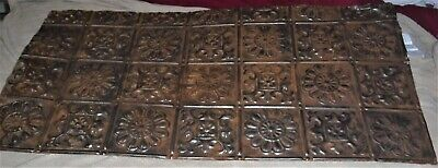 Antique tin/metal ceiling tile 41 1/2 inches x 21 inches very ornate