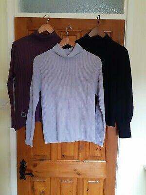 Mixed Brands LADIES POLONECK JUMPER SIZE 14 X 3 items