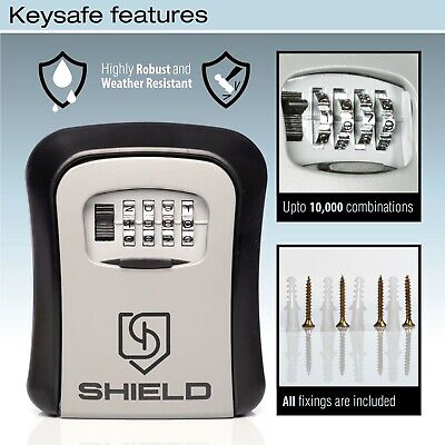 Wall Mounted Key Safe Box 4 Digit Combination Code