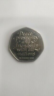 2020 Brexit 50p Coin Uncirculated From A Sealed Bag Friendship With All Nations