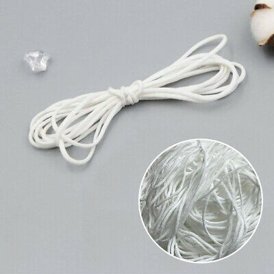 3mm Round Elastic Band Cord Ear Hanging Sewing Craft Polyester 10/50/100m Length