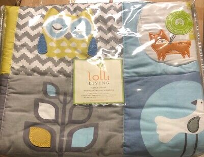NEW Lolli Living Woods 4-Piece Crib Bedding Set 161034 Quilt Sheets Fox
