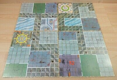 Space Crusade Mb Games 1990 Original Board (All Four Pieces)