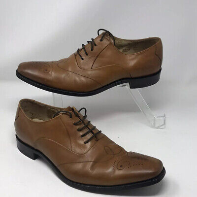 LOAKE Gunny Mens Formal Chestnut/ Tan Brown Leather Lace Up Brogue Shoes UK 10.5