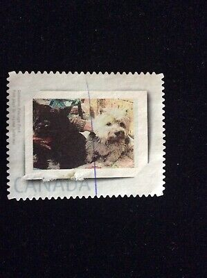 Canada Picture Postage Stamp / Personalized Stamp - Used - Dogs - Damaged