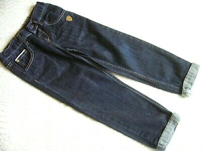 Marks & Spencer Boy's Jeans 4-5 Years  Adjustable Waist, Striped Turn-Ups