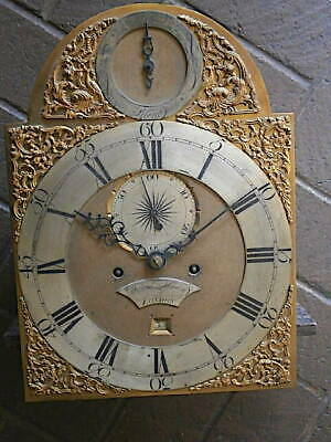 C1750 8DAY  LONGCASE GRANDFATHER CLOCK DIAL+movement 12X16+1/2 inch    DANIEL MA