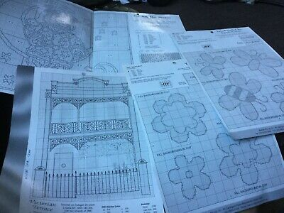 Lot of 4 tapestry charts VGUC Surplus to need