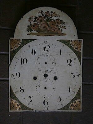 C1830 Longcase Grandfather Clock Dial