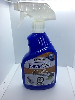 Rust-Oleum Never Wet 11-Ounce Boot & Shoe Spray, Clear Water Repelling Treatment