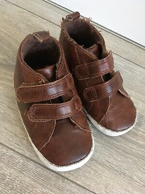 """NEXT Baby Toddler Boys """"First"""" Soft Boots Size 4"""
