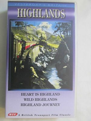 VHS VIDEO - YESTERDAYS BRITAIN - THE HIGHLANDS - 1950's.