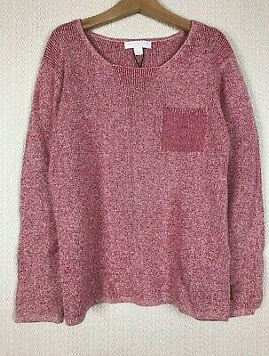 BURBERRY Pink Jumper 8 Year Cotton Linen NWT Chunky Knit