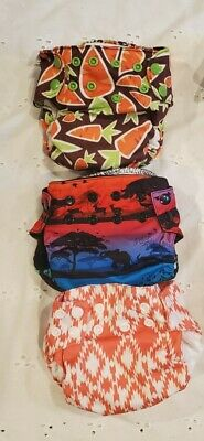 All in One-Cloth Diaper Lot of 3 Size Newborn- 2 Nicki's Diapers &1 Blueberry