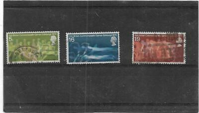 British Stamps 1970 Ninth British Commonwealth Games Full Used Set SG.832-834 GB