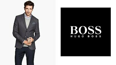 New Hugo Boss grey striped double breasted suit jacket blazer 40R 50 Large £289