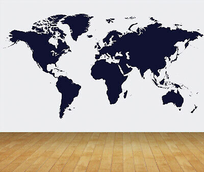 Feature wall world map in 2mm mild steel  2mx1m