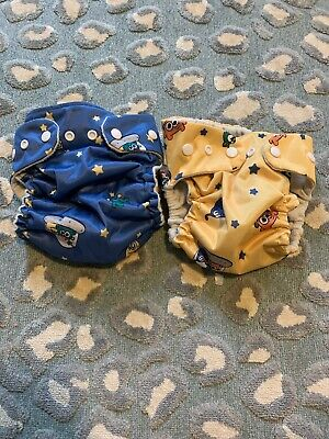 Softbums Echo And Omni OS One Size Aliens Covers Pocket Yellow Blue Snaps