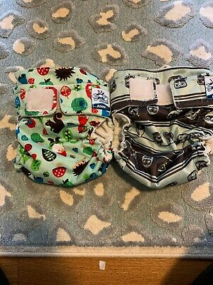 Softbums Omni Lot Of 2 Gnomes Owls Pocket Diaper One Size OS