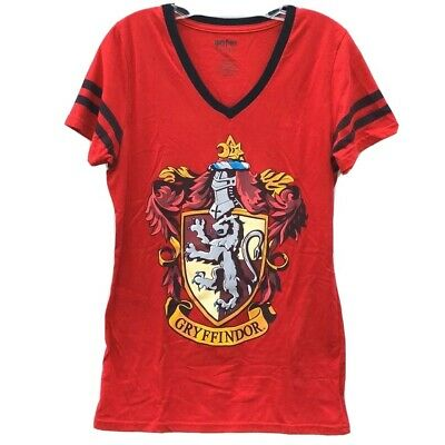 Harry Potter Junior Womens XXL Short Sleeve Gryffindor Red Tee T-shirt FIT SMALL