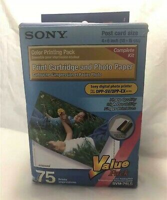Sony SVM-75LS Print Cartridges & Photo Paper Value Pack New in Box 75 Prints