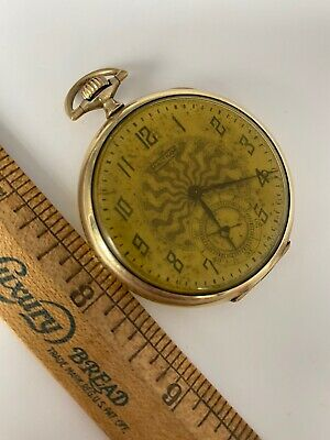 Antique 1920 Waltham Model 1894 Pocket Watch 15 Jewel Size 12s ART DECO