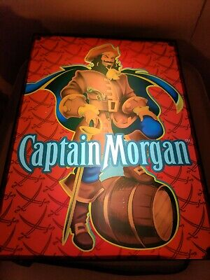 CAPTAIN MORGAN Light up Sign Mancave Pub Lounge Advertising Sign Light up RARE🔥