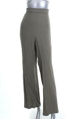 New Women's JM Collection Plus Size Textured Wide-Leg Olive Pants  3X