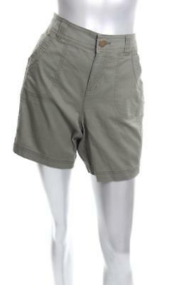 New Women's Style Co Slim-Fit Shorts Olive Sprig 14
