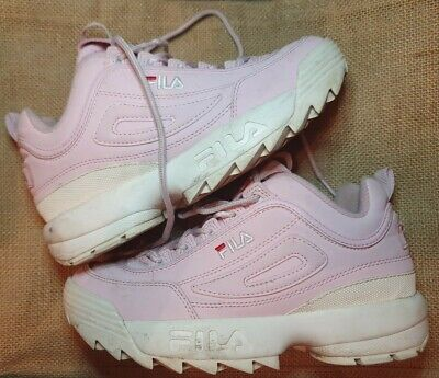 Preloved Baby Pink Fila Disruptor Chunky Sneakers