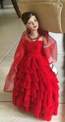 """TONNER 10"""" DOLL Kitty Collier Red Velvet Cascade LE500 Great condition 2004"""