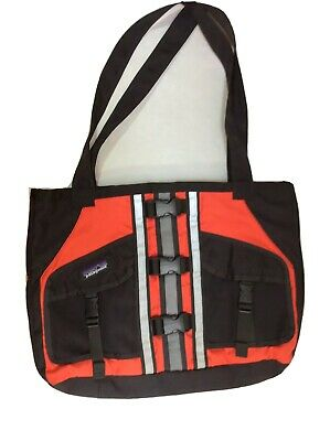 Patagonia Remade Lotus Designs PFD Red Black Reflective Tote RARE Made In USA
