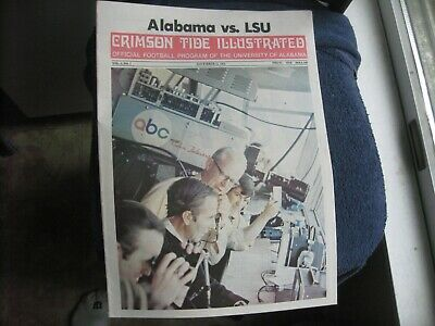 11/11/72 Alabama Vs Lsu Ncaa Football Program John Hannah, Bert Jones Nm