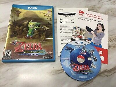 Legend of Zelda The Wind Waker HD *GOLD COVER* Nintendo Wii U Tested! Complete!