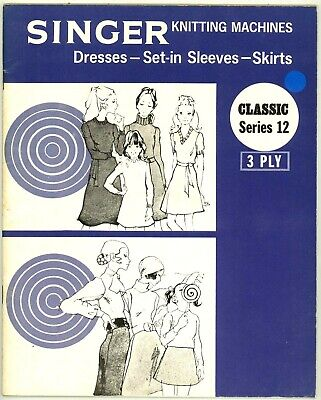 Singer Machine Knitting Pattern Book - Dresses & Skirts In 3 Ply