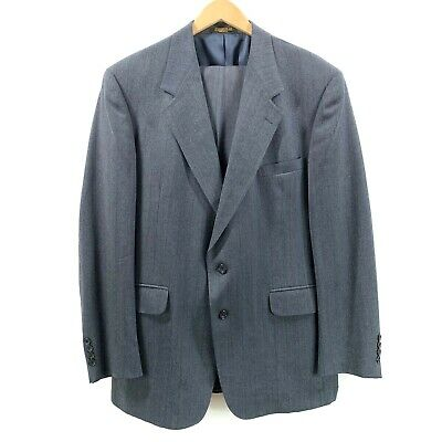 Evan Picone Men Suit Blue Grey Pinstripe Two Button - Custom Tailored Size