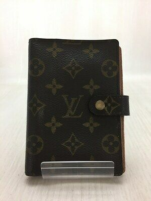 Louis Vuitton Monogram Agenda PM Day Planner Notebook Cover Case R20004 Used Ex+