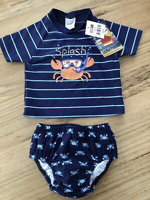 Baby Boys Rashie And Bottoms BNWT Size 6-12 months