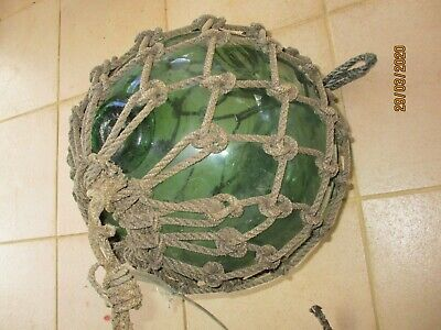 Large Green Antique Divers Fishing Diving Ball