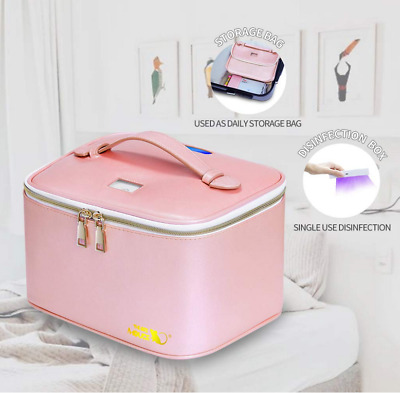 UV Sterilizer Bag Portable LED  Disinfection Bag Baby Bottle Underwear Toy(Pink)