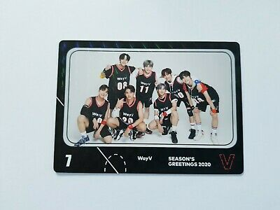 K-POP WayV 2020 Season's Greetings Official Limited WayV Photocard