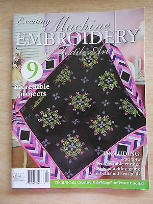 Machine Embroidery & Textile Art Vol 20 #3~Quilt~Runners~Bag~Table~Seat Pads...