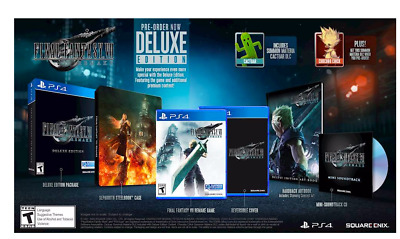 Final Fantasy VII 7 Remake Deluxe Edition PS4 Playstation Steelbook Art