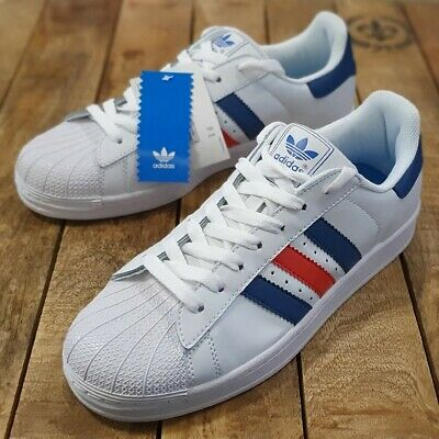 New Adidas SuperStar II IS Running Shoes, Fashion Sneakers, Men's Blue Red