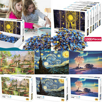 1000 Puzzle Pieces Jigsaw Adult Wooden Game Toy Decompression Kids Gift Home