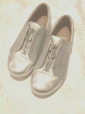 Silver Coloured  Fit Flop Shoes In Size 6