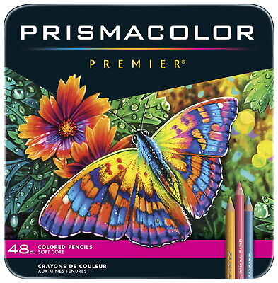 Prismacolor Premier Soft Core Colored Pencils, Assorted Colors, Set of 48